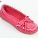 Hello Kitty Minnetonka moccasins pink