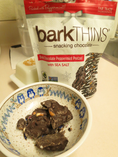 barkthinks dark chocolate peppermint pretzel