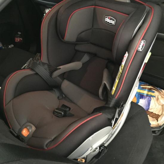chicco nextfit convertible car seat  closeup