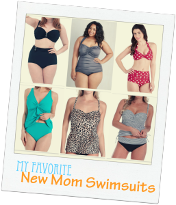 My Fave New Mom Swimsuits