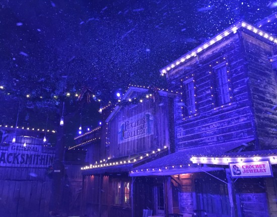 Knotts Merry Farm -Snow and Glow in Ghost Town