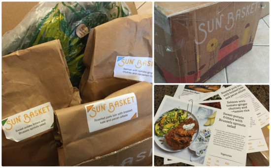 sunbasket meal prep box - collage