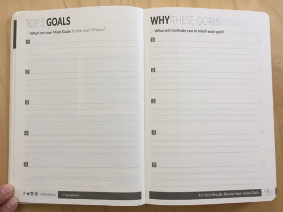 90x goal planner - why goals