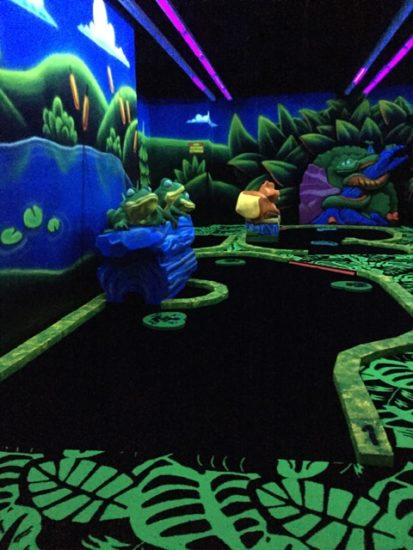 Glow in the dark mini golf! - Great Wolf Lodge