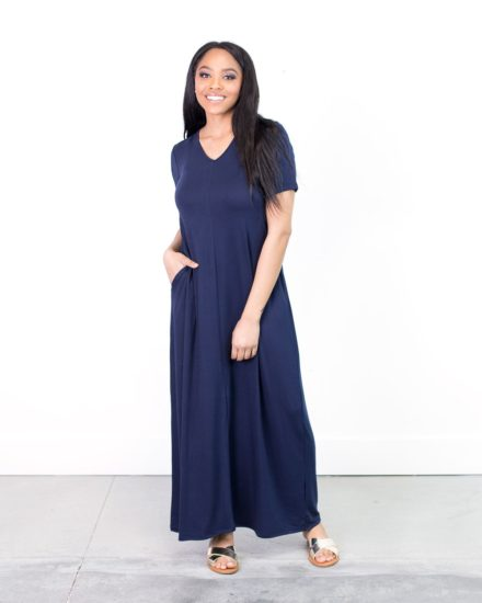 Cents of Style - Caprice Double V-neck Maxi Dress