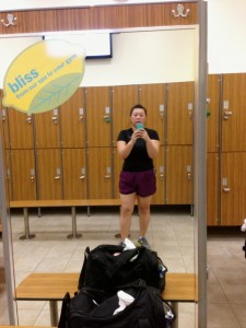 Post-spinning. That is not my gym bag.