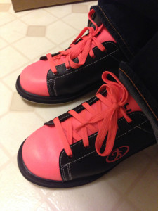 Elite neon orange bowling shoes - you can't miss me!