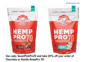 Manitoba Harvest HempPro 70 Protein Powder - promo code: SweatPinkPro70